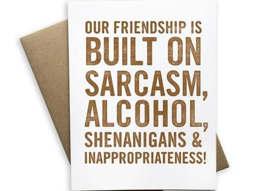 Our Friendship is Built on Sarcasm