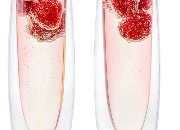 Double Wall Champagne Flute