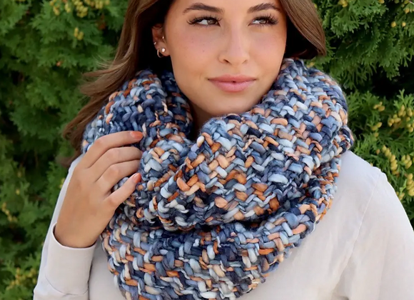 Woven Knit Scarf- Sunset