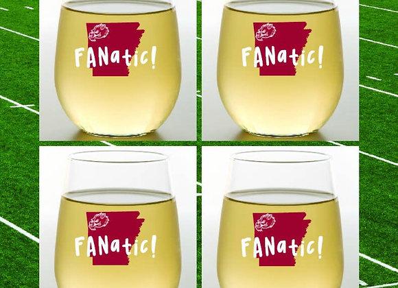 ARKANSAS FANATIC | Shatterproof Wine Glasses