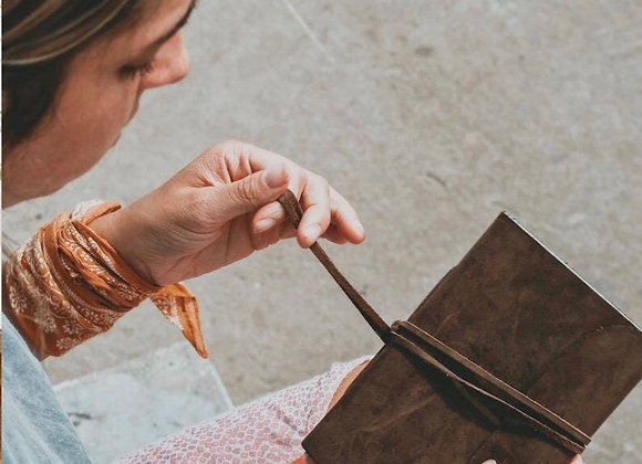Leather Wrapped Journal, by CauseGear