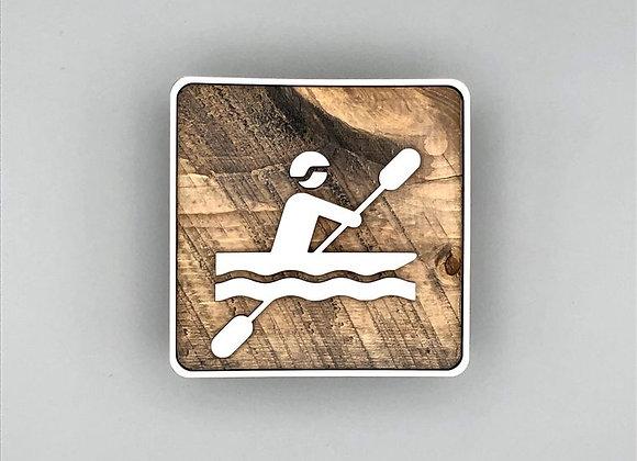 Rustic Kayaking Shelf Decor
