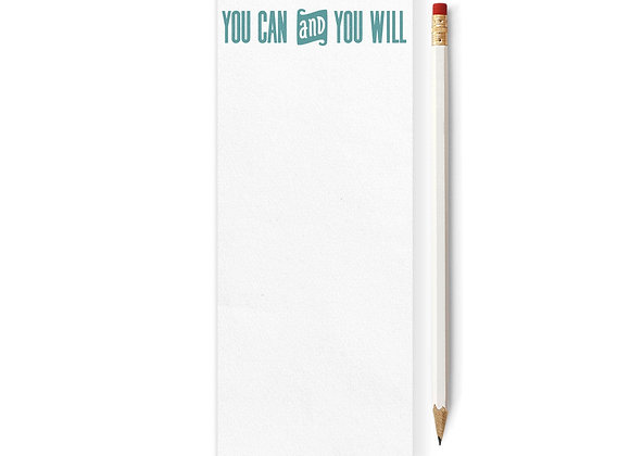 You Can and You Will Skinny Notepad
