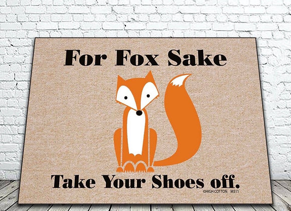 For Fox Sake Door Mat