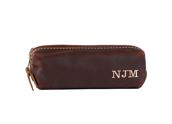 Small Leather Toiletry Bag - No Monogram