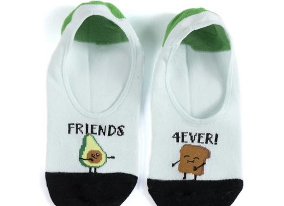No-Show Socks: Friends 4Ever