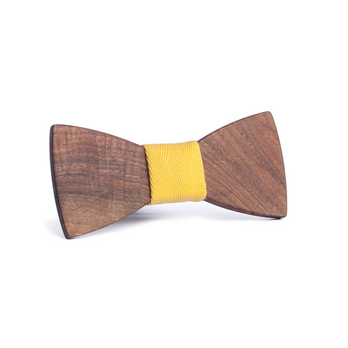 Women's wooden bow tie - Classic - Walnut