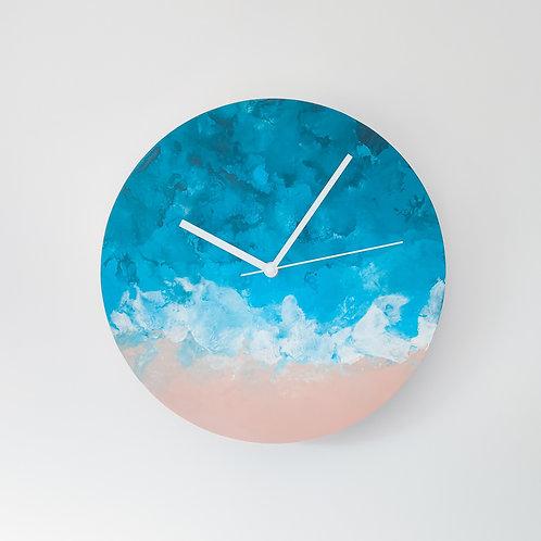 Wooden Clock - Ocean n°1