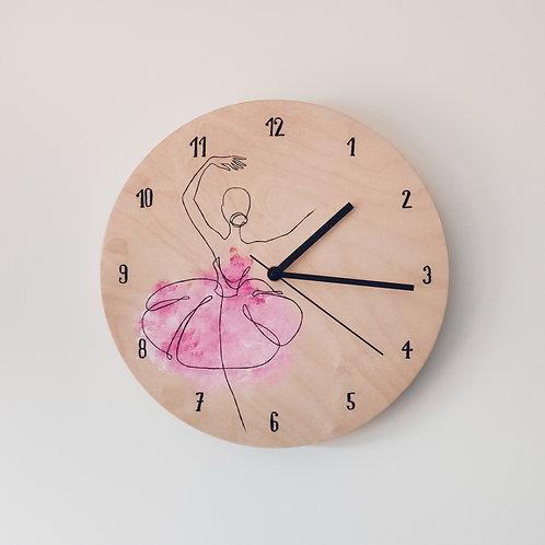 Wooden Clock - Ballerina n°1