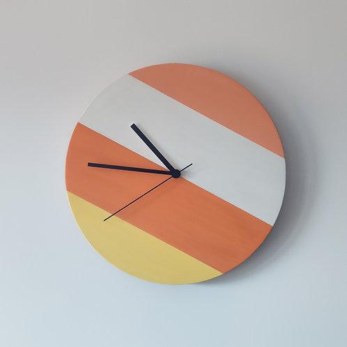 Wooden Clock - Orange n°1