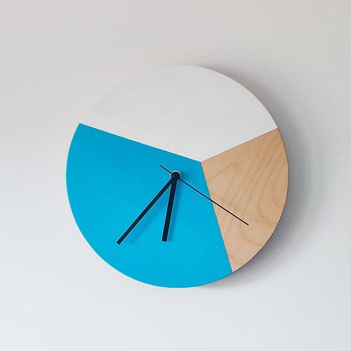 Wooden Clock - Blue n°1