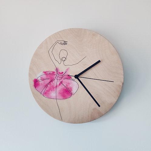 Wooden Clock - Ballerina n°2