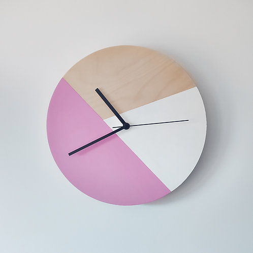 Wooden Clock - Pink n°2