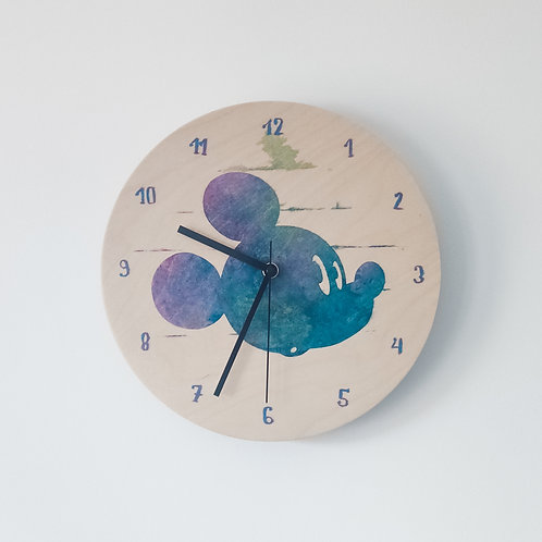 Wooden Clock - Mickey Mouse n°2