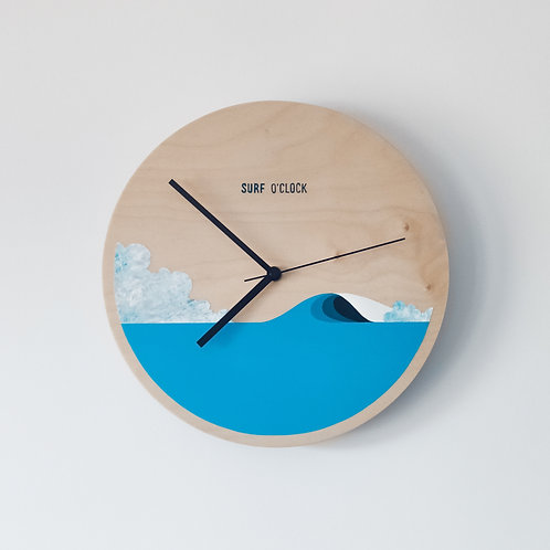 Wooden Clock - Wave n°1