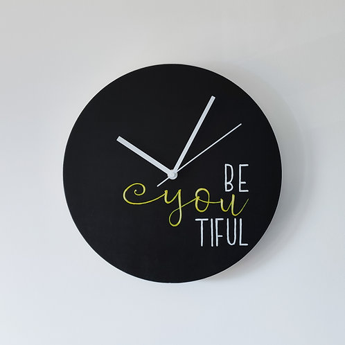 Wooden Clock - Be You Tiful n°1