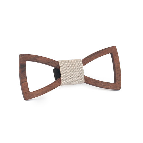 Women's wooden bow tie - Empty Classic - Walnut