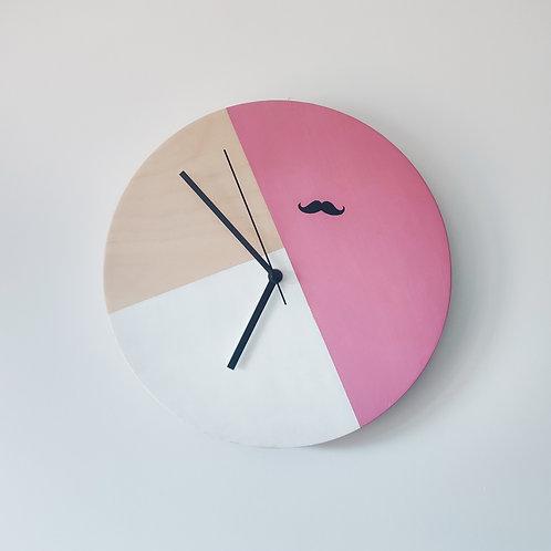 Wooden Clock - Pink n°1
