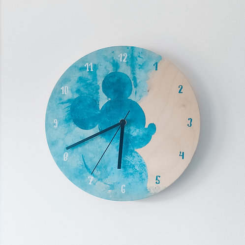 Wooden Clock - Mickey Mouse n°1