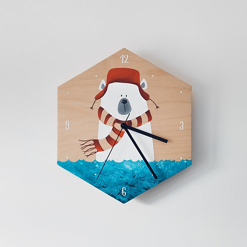 Wooden Clock - Bear n°1