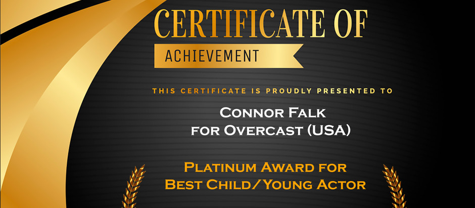 Platinum Award Winner: Best Child Actor