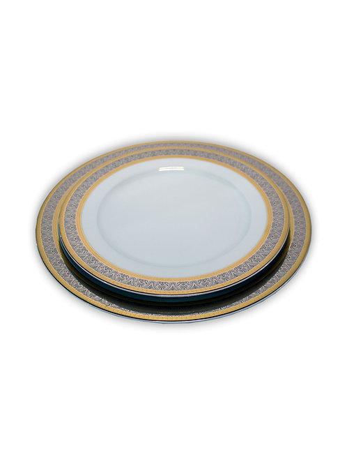 """Тарелка глубокая """"Opal"""" 22 см; """"Широкий кант, платина золото"""""""