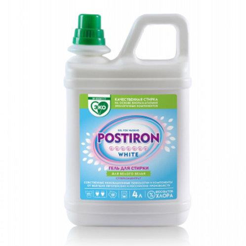 """Гель для стирки белого белья  """"POSTIRON White"""" 4 литра"""