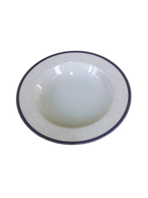 """Тарелка глубокая """"Opal"""" 22 см; декор """"Голубые пластинки"""""""