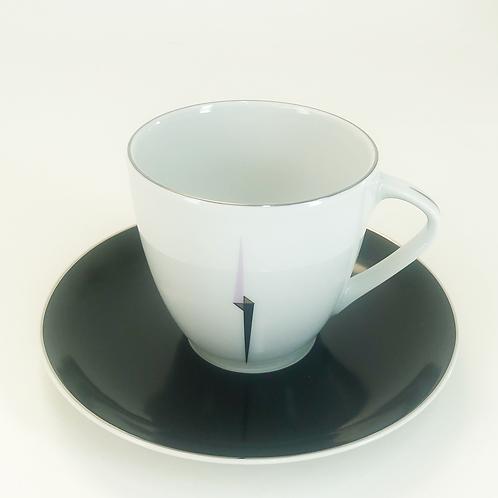 """Чашка 155 мм высокая, Silvia; декор """"Сиренево-черная стрела"""""""