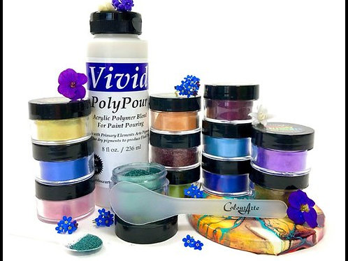 """""""Wild Flowers"""" Set  8oz PolyPour-12 Primary Elements FREE Paint Mixing Paddle"""