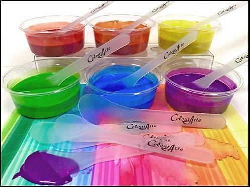 ColourArte' 5-PK Reusable Paint Mixing Paddles