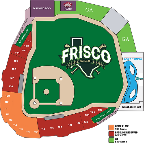2021 Frisco Classic Updated Seating Map