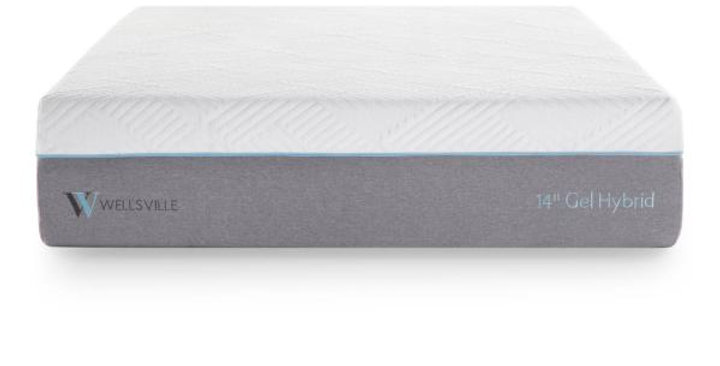 "WELLSVILLE 14"" PLUSH GEL HYBRID MATTRESS"
