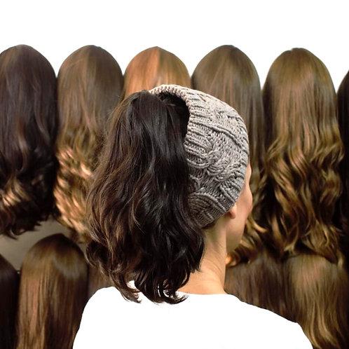 קוקו קליפס משיער אמיתי ייבוש טבעי