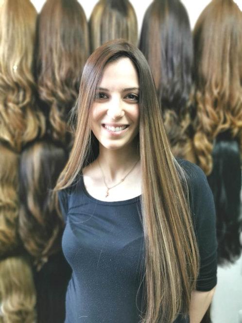 קאסטם ארוכה שיער ברזילאי משובח ייבוש טבעי