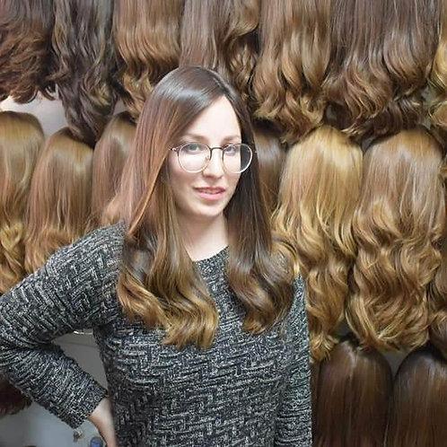 פאת קאסטם ארוכה שיער רוסי משובח גוון טבעי דק איכותי