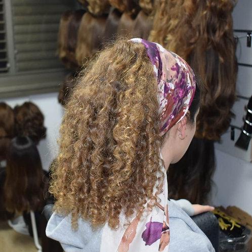 קוקו קליפס משיער אמיתי ייבוש טבעי בלונד גוון אמיתי