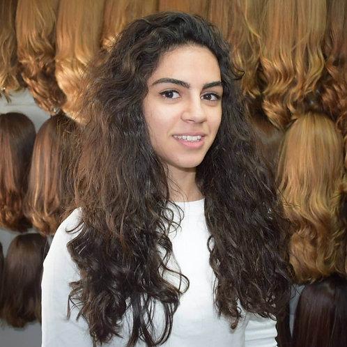 פאת קאסטם ייבוש טבעי מתולתלת שיער ברזילאי איכותי