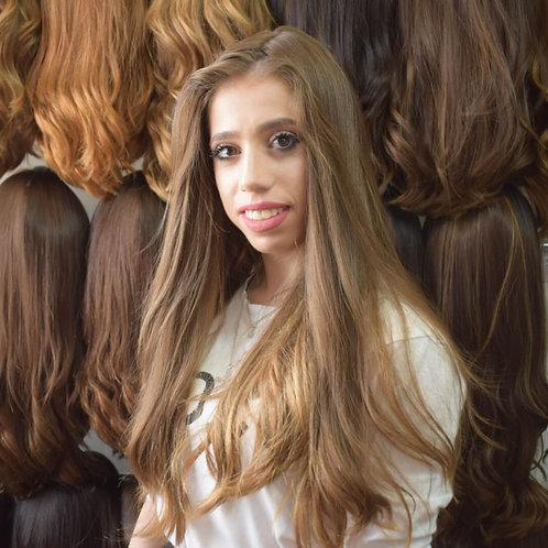פאה בלונדינית טבעית שיער רוסי משובח