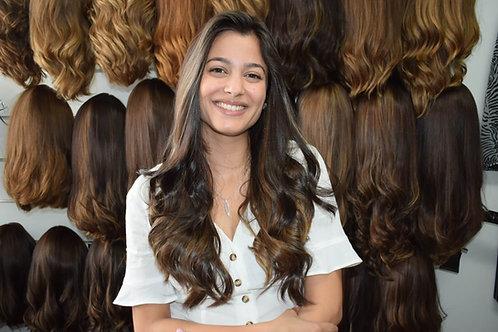פאת קאסטם ארוכה שיער ברזילאי משובח ייבוש טבעי