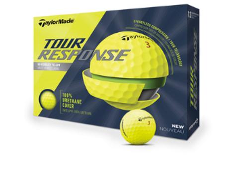 Желтые мячи TaylorMade Tour Response
