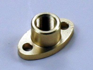 Ovaler Flansch mit Innengewinde M5x0,5