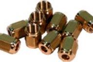 Überwurfmuttern SW 6, M5 x 0.5 für Ø 3mm, 10 Stück