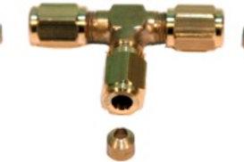T- Verbinder zum Verschrauben Ø 3mm M5 x 0.5
