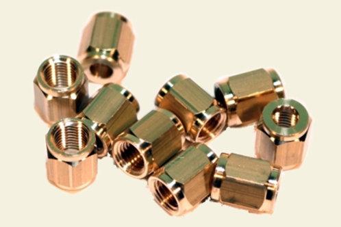 Überwurfmuttern SW 8, M6 x 0.75 für Ø 4mm 10 Stück