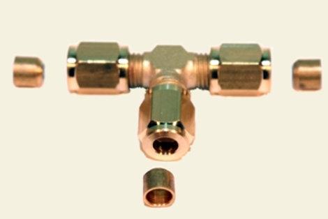 T- Schraubverbinder M6 x 0.75 Ø 4mm Rohr