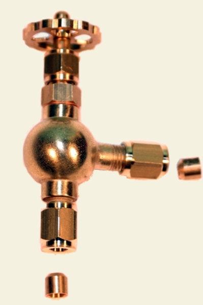 Dampfeckventil M6 x 0,75 4mm Rohr