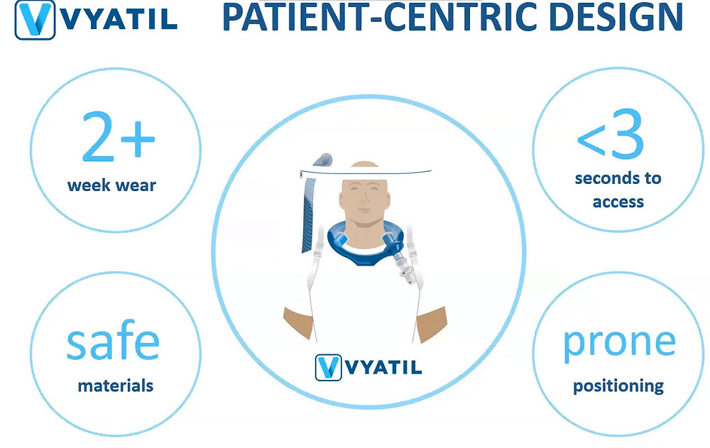 VYATIL Oxygen Tent featured benefits for patients and clinicians