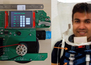 A Portable, Low-Cost CPAP/BiPAP and NIV Helmet setup developed by Dr. Khan for COVID-19 patients
