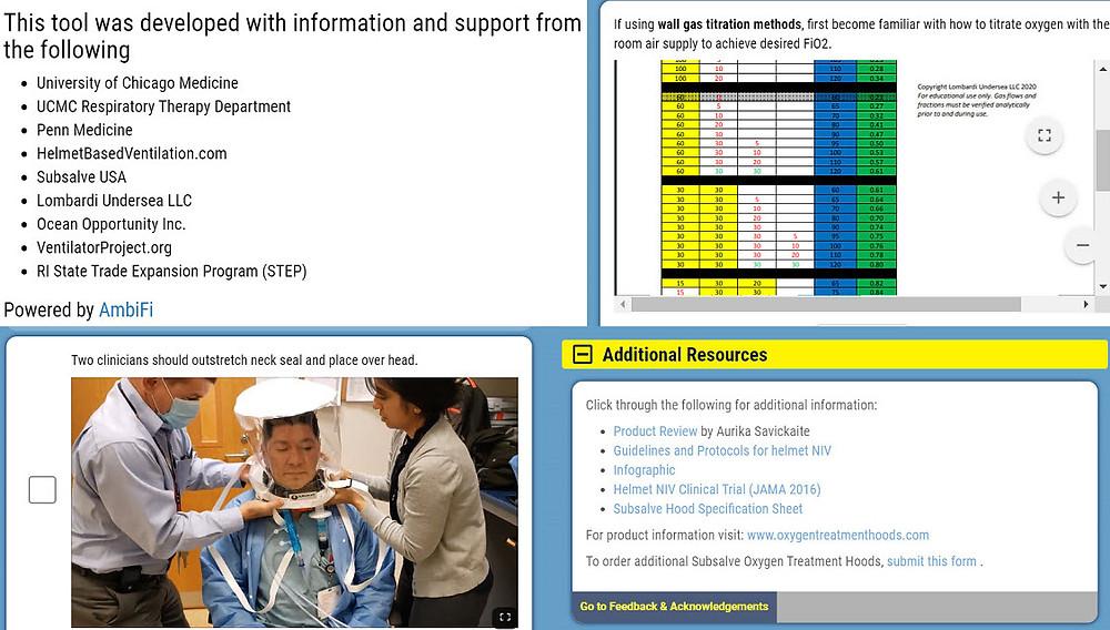 Protocols Guidelines for Using a Helmet Ventilation Niv From Uchicago Medicine